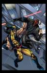 Wolverine VS. Darth Maul COLORED