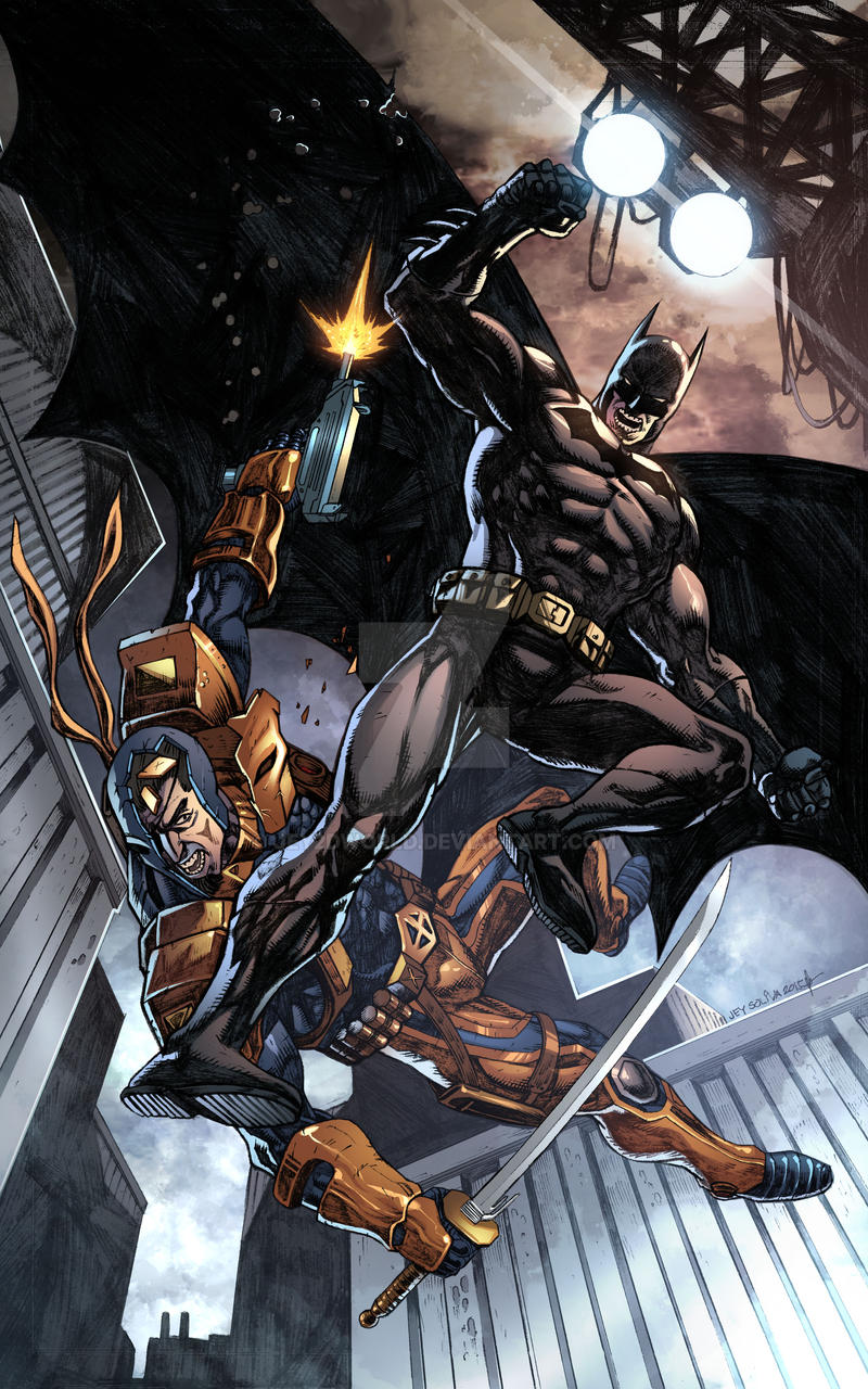 Batman Vs Deathstroke By Jey2dworld On DeviantArt