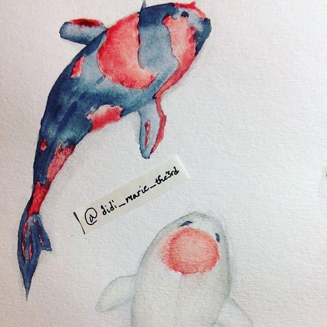 Watercolor Koi Fish by MiraclePemberton