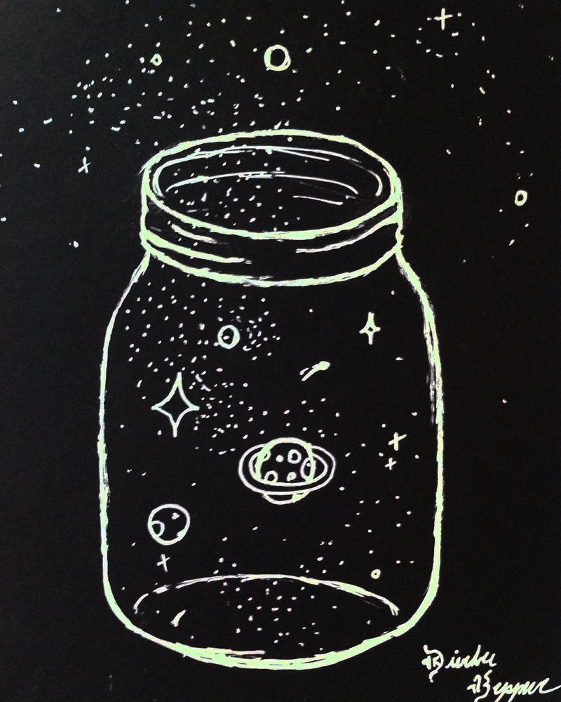 Galaxy in a Jar by MiraclePemberton