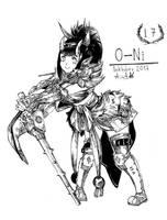 Inktober 17 - O-Ni by YunaXD