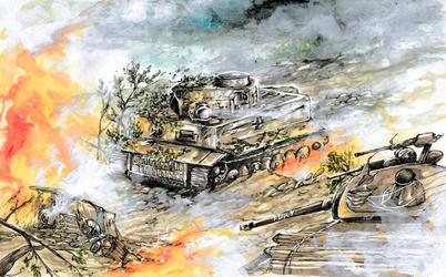 Tiger 131 vs Sherman Fury