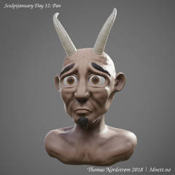 Sculptjanuary Day 12 - Pan
