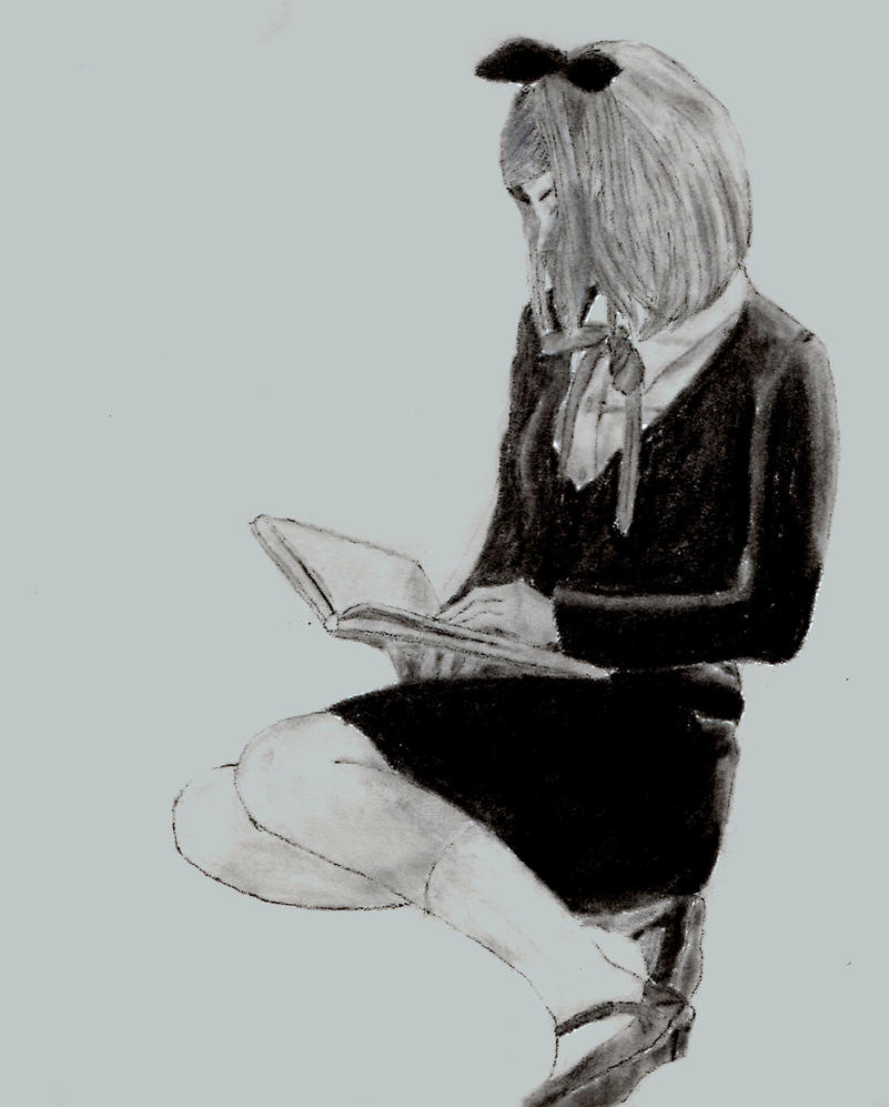 Girl Reading Her Book By Metrolonx On DeviantArt
