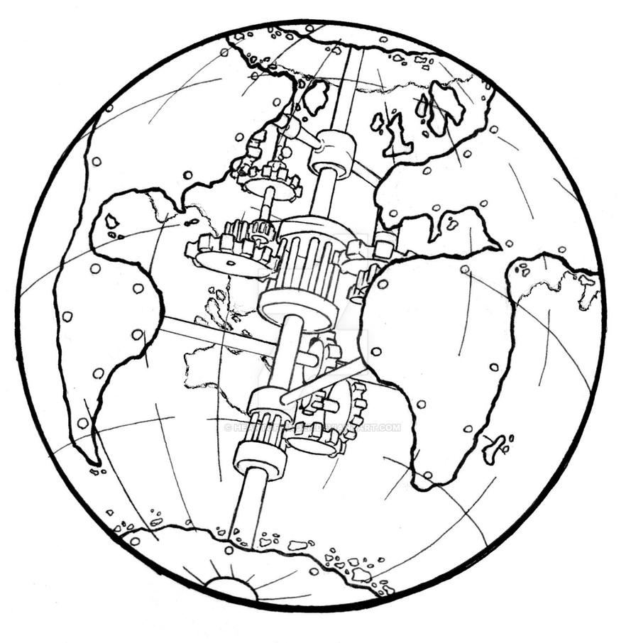 Line Drawing Clock : Steampunk world s fair logo by heartofcinder on deviantart
