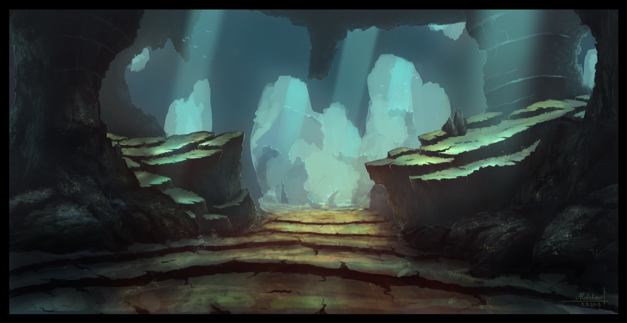 98 Sketch Wallpapers Wallpaper Cave Sketches Wallpapers: Fantasy Cave By Famalchow On DeviantArt