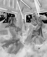 Bastila vs Darth Revan by clarkspark