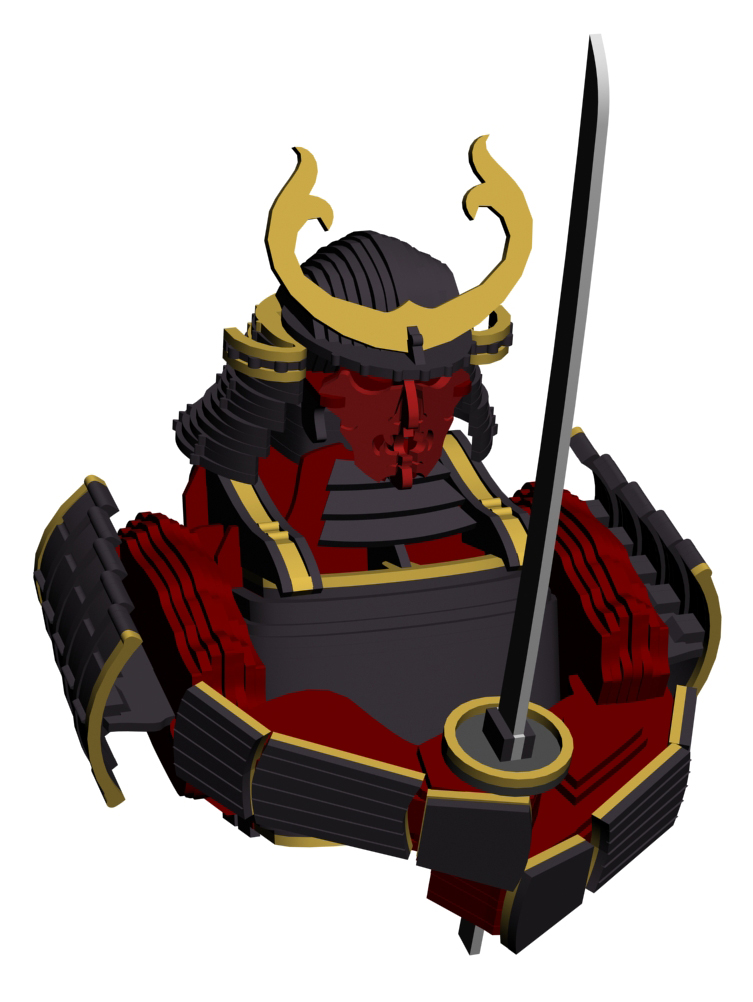 Samurai - 3d Preview - wip by bapabst