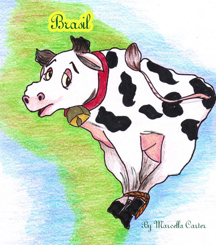 cow brazil by marcellacarter