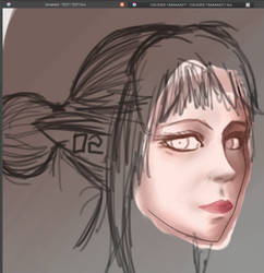 Elf Portrait WIP