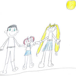 A picture of Rini and her parents. by sailorcancer01