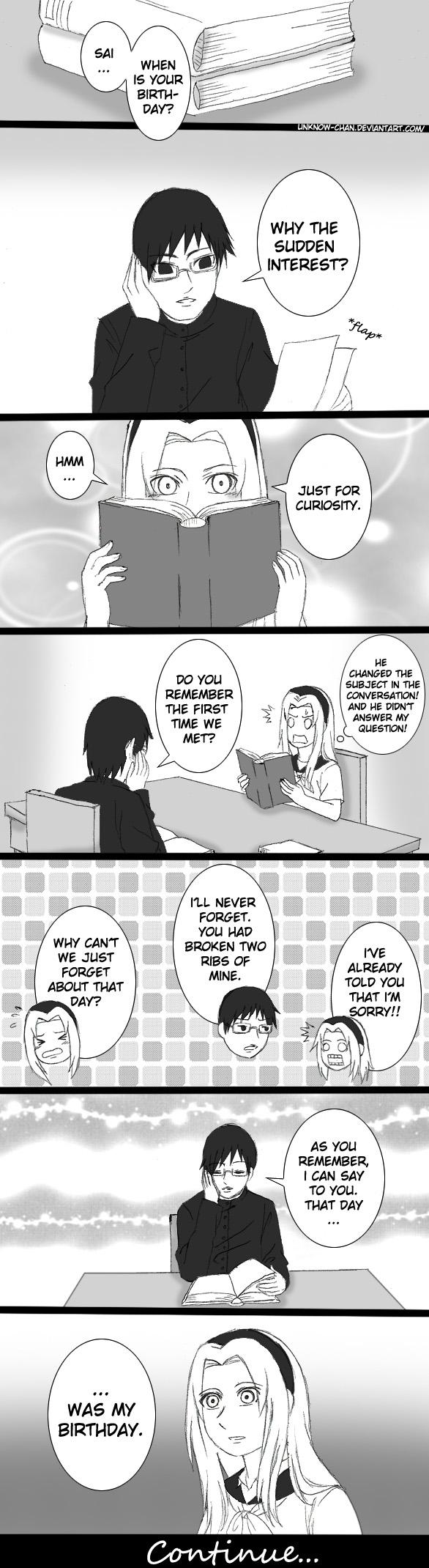 SaiSaku :his birthday: pt 1 by unknow-chan