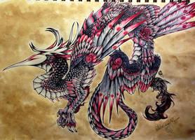 Crane Dragon by Penfell