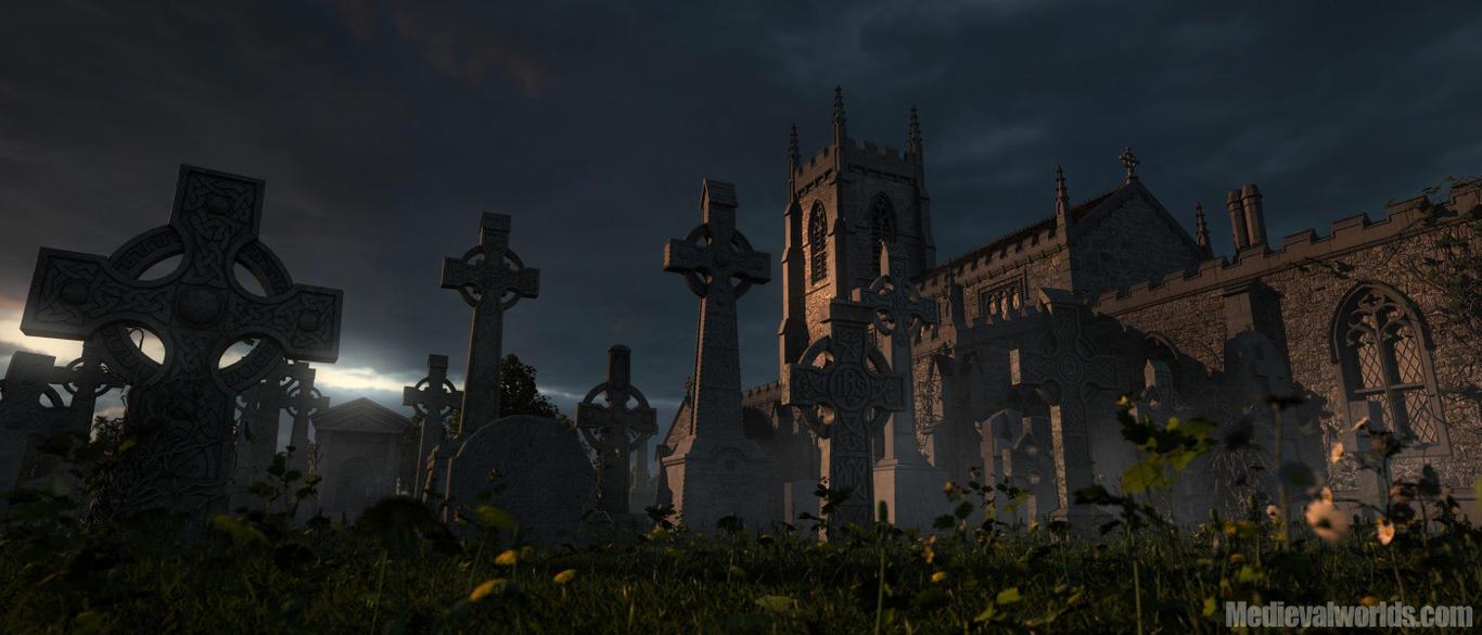 Cementerio de Camelot Medieval_graveyard_by_svenart-d3lncwe