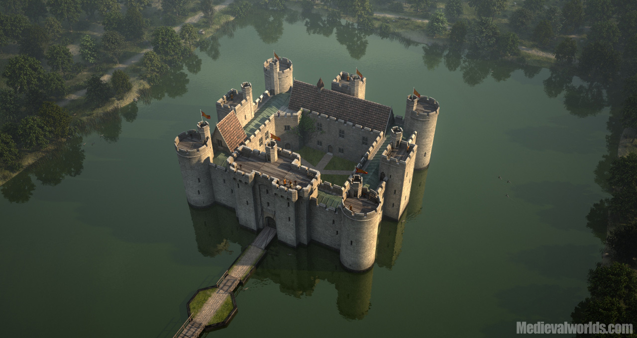 Bodiam Castle by svenart
