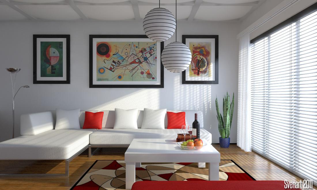 modern livingroom by svenart