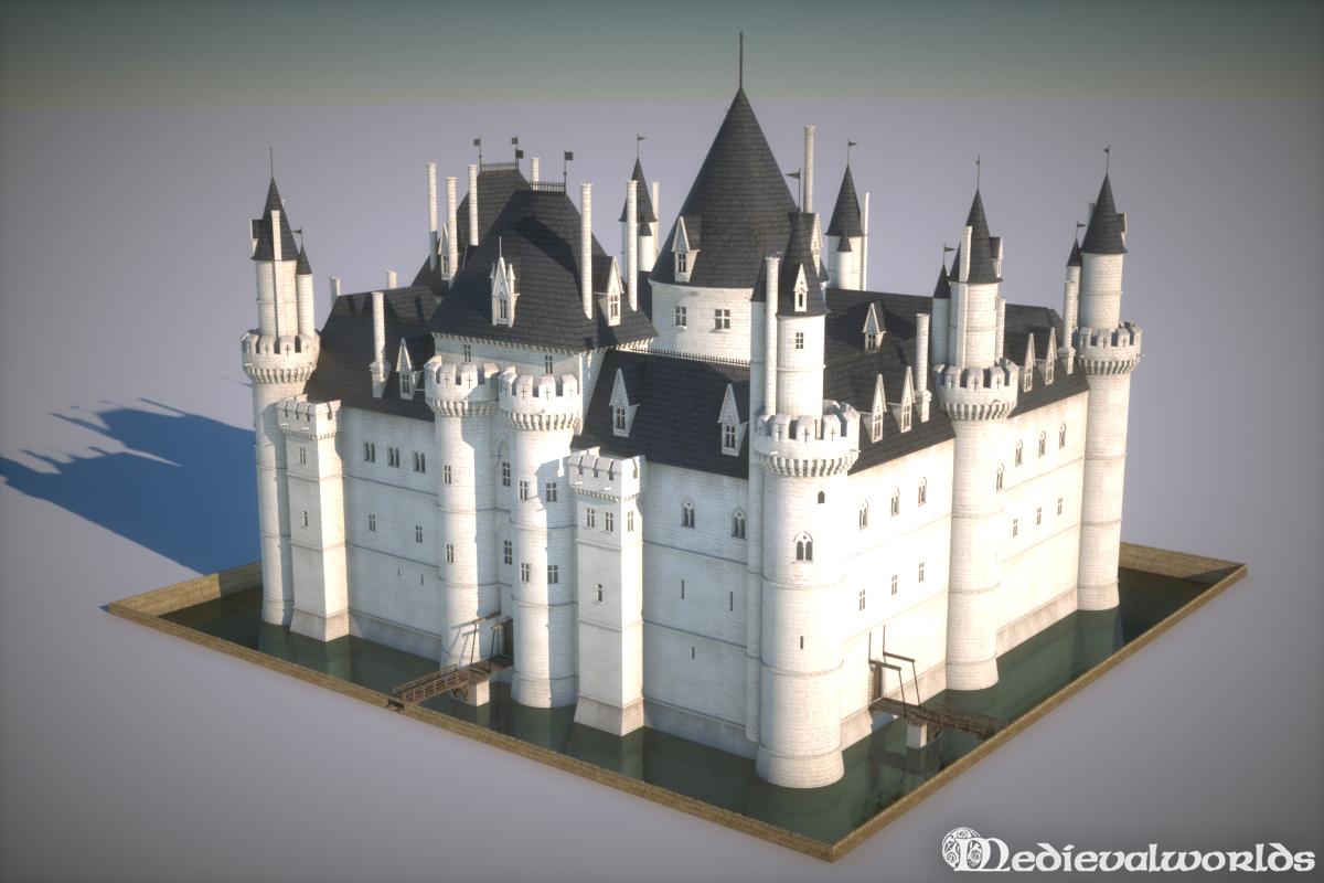 Medieval Louvre by svenart