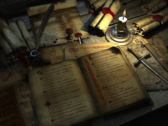 book and parchment by svenart