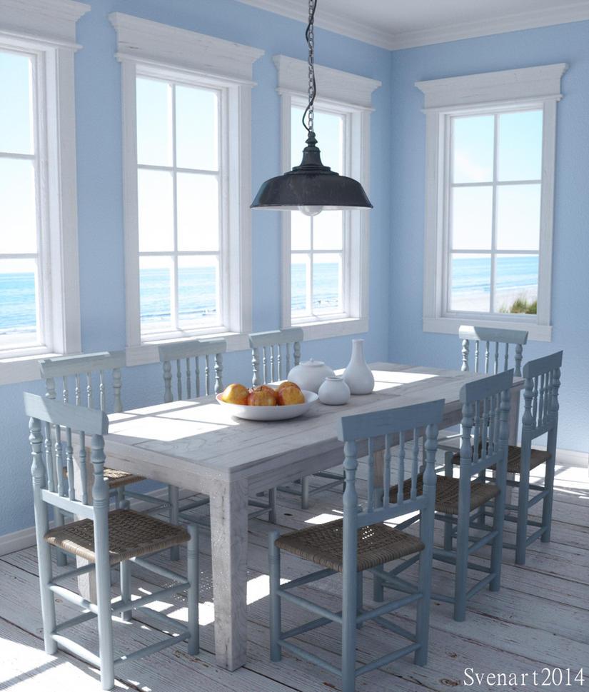 Dining room by svenart