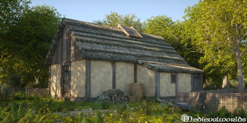 Medieval Dwelling by svenart
