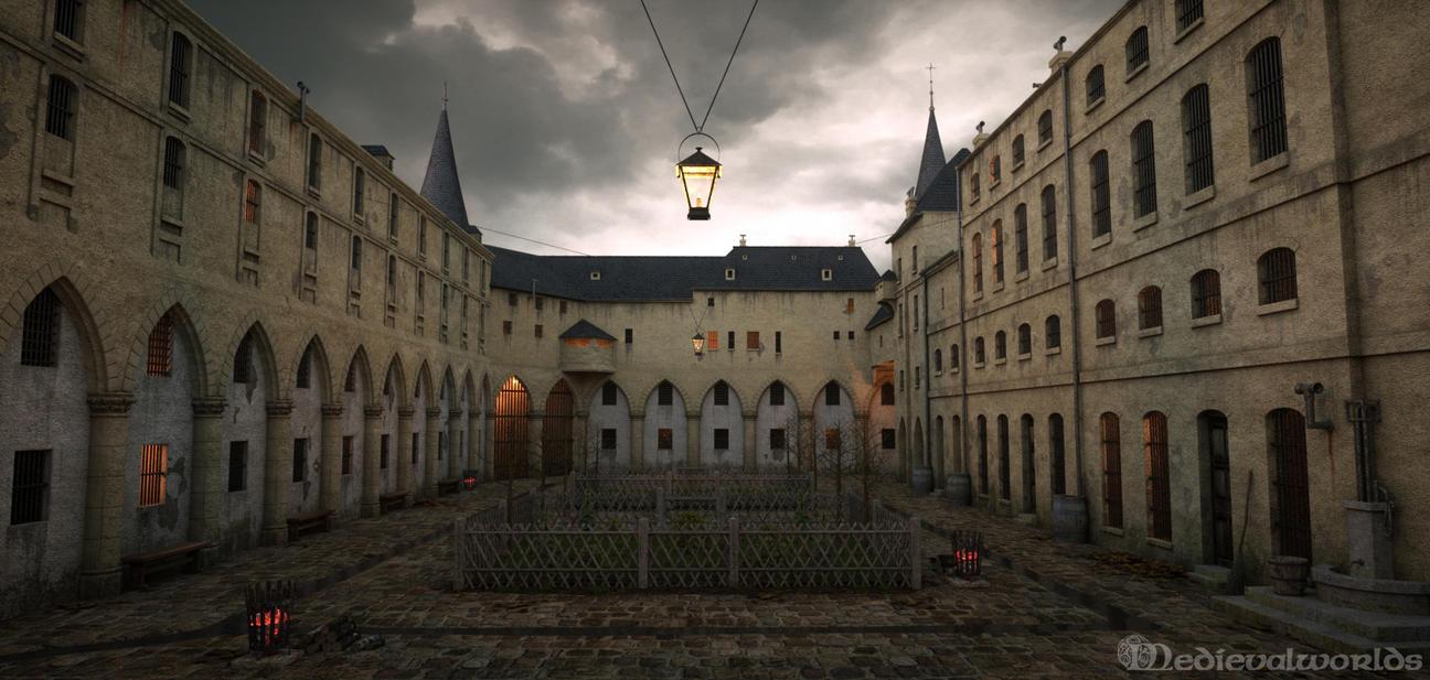 Prisoners Courtyard by svenart