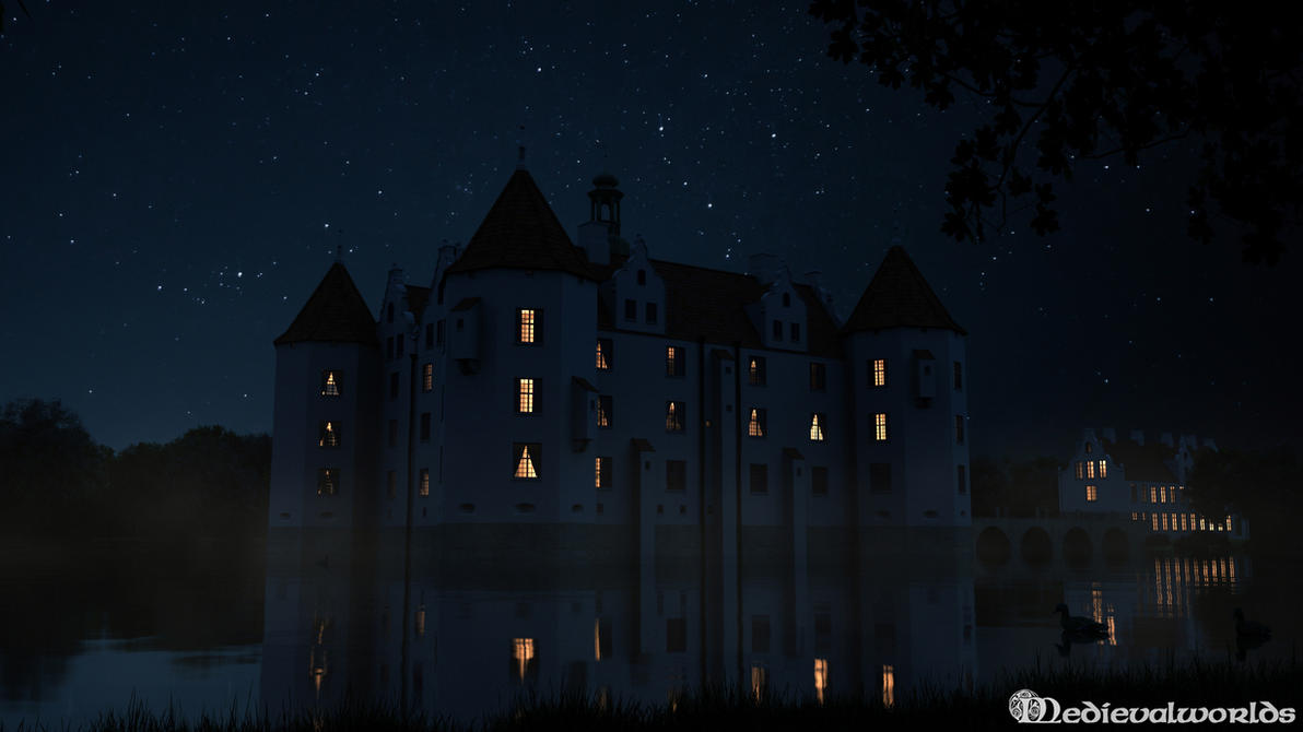 Gluecksburg  Castle (night version) by svenart
