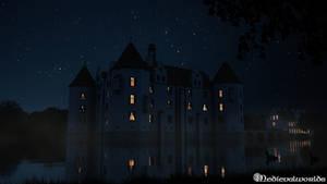 Gluecksburg  Castle (night version)