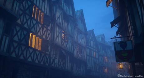 Medieval street by svenart