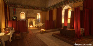 Chateau Loches medieval chamber