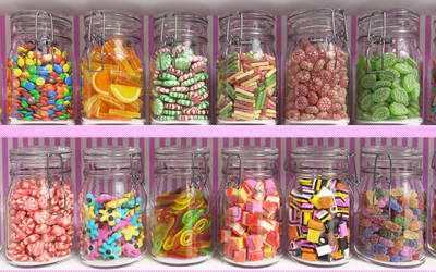 Candy shelf