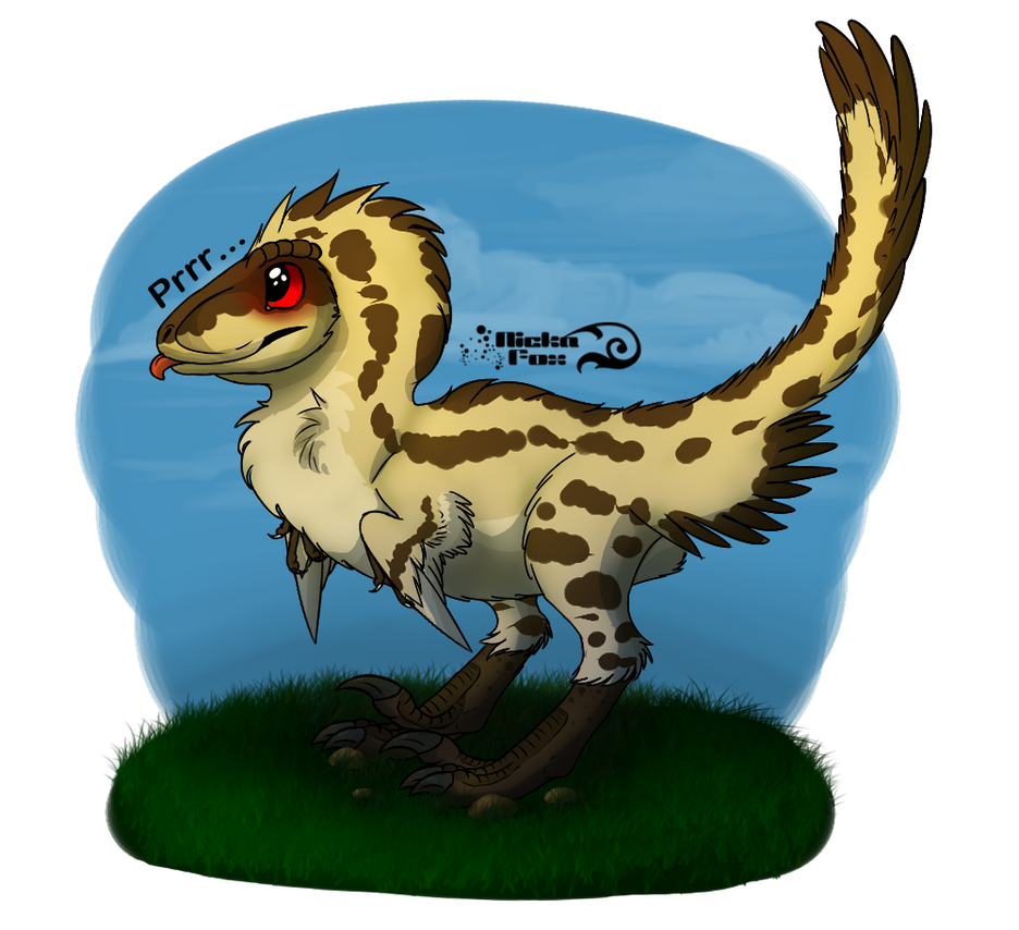 Fan-Art: JPOG Velociraptor Feathered By NickaFox On DeviantArt