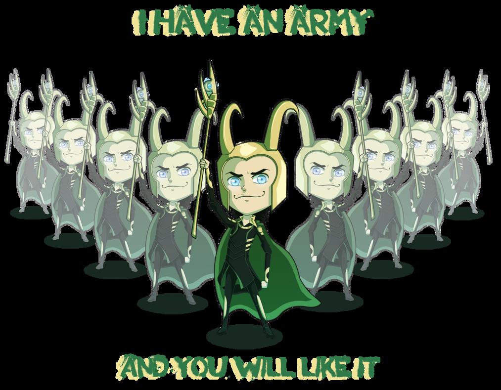 Avengers : Loki chibi by LaLunatique