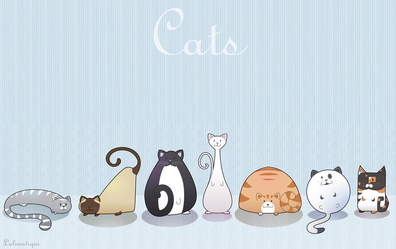 Cat Shapes - background by LaLunatique on DeviantArt