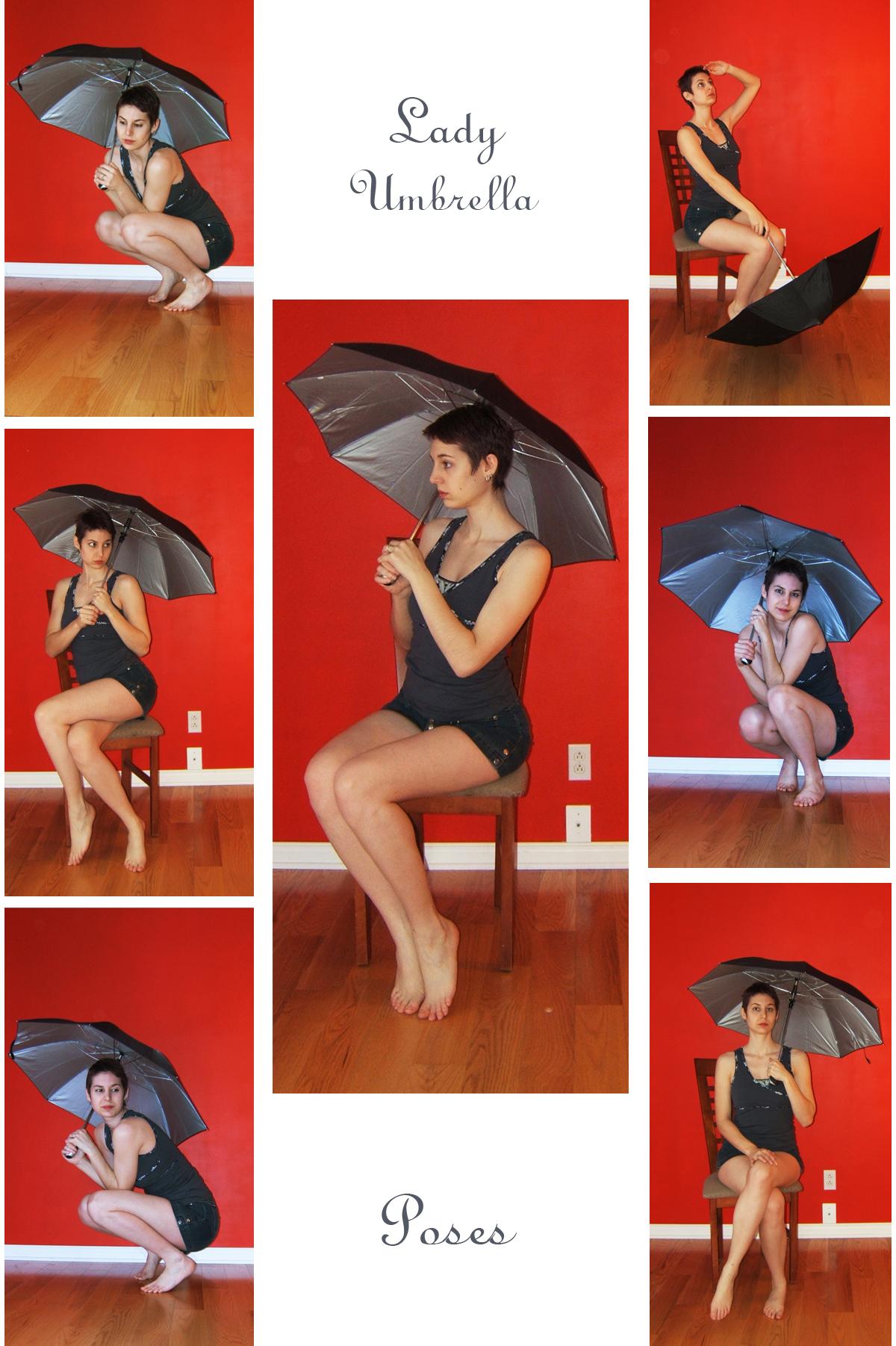STOCK - Lady Umbrella by LaLunatique