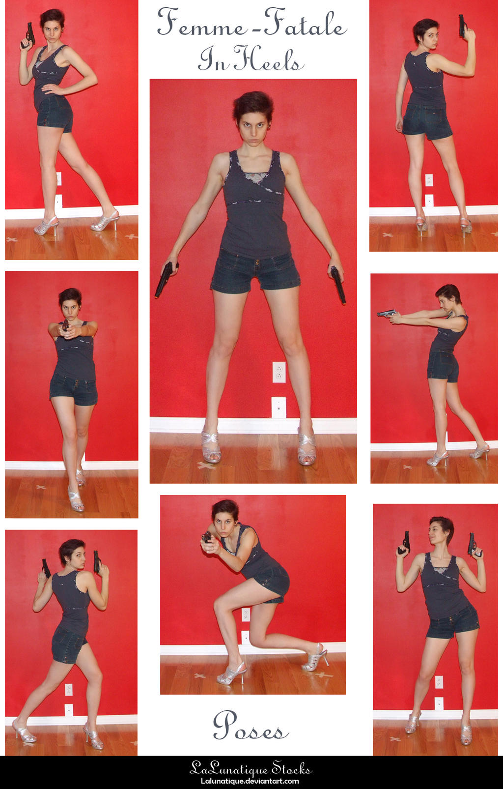 STOCK - Femme-Fatale in heels by LaLunatique