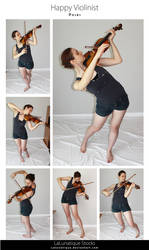 STOCK - Happy Violinist by LaLunatique