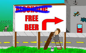 Alcoholic Free Beer by Thy-Penguin