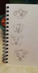 Little heads of bears by Belfar