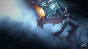 League of Legends Dragon Slayer Vayne Wallpaper by KPPOnline