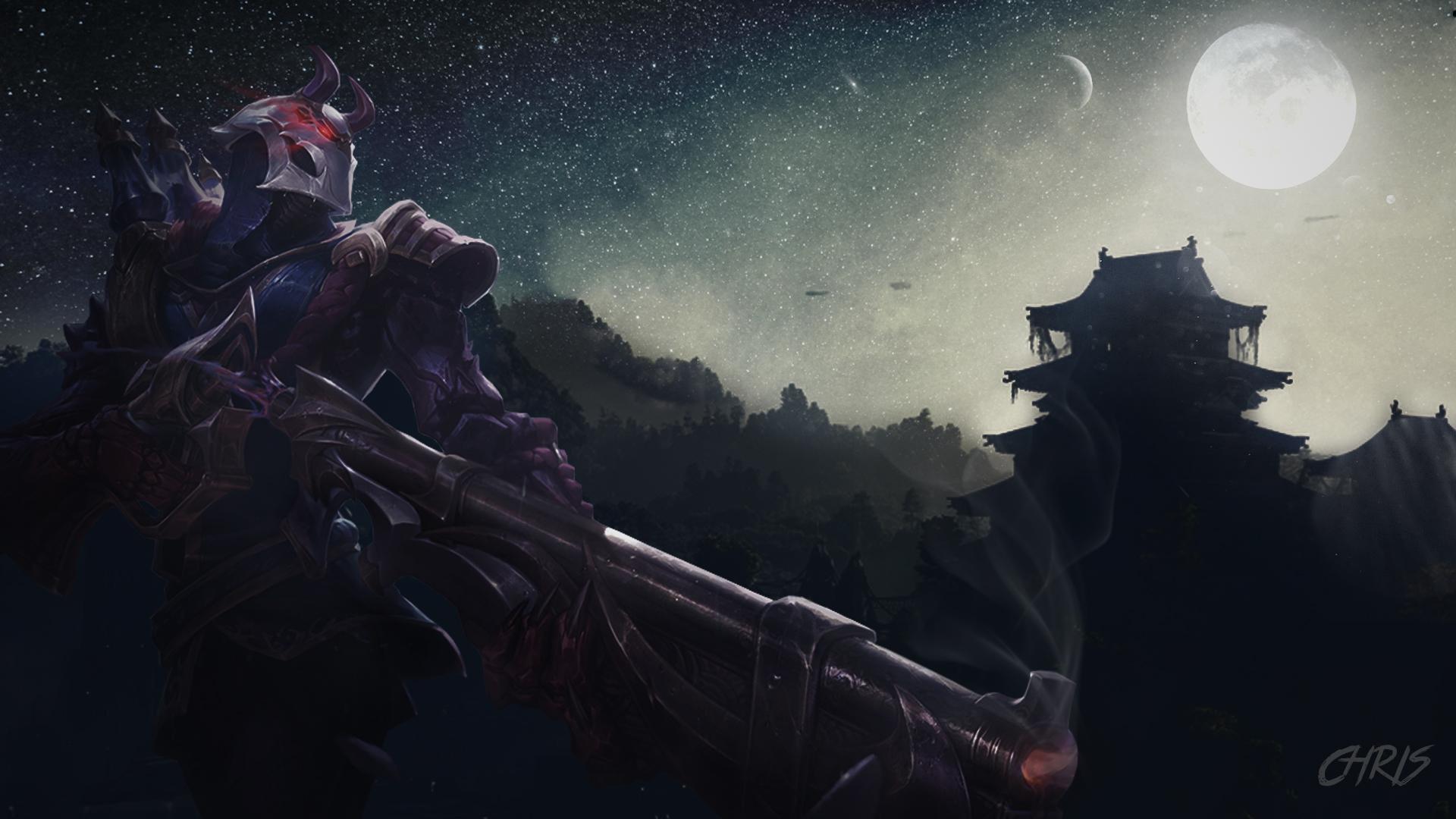 League Of Legends Blood Moon Jhin Wallpaper By Kpponline On Deviantart