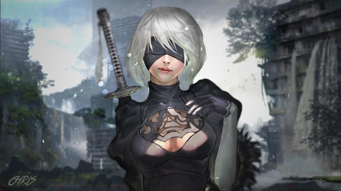 Nier Automata Fan Art Wallpaper 01 1920x1080: NieR: Automata 2B Anime Wallpaper By KPPOnline On DeviantArt