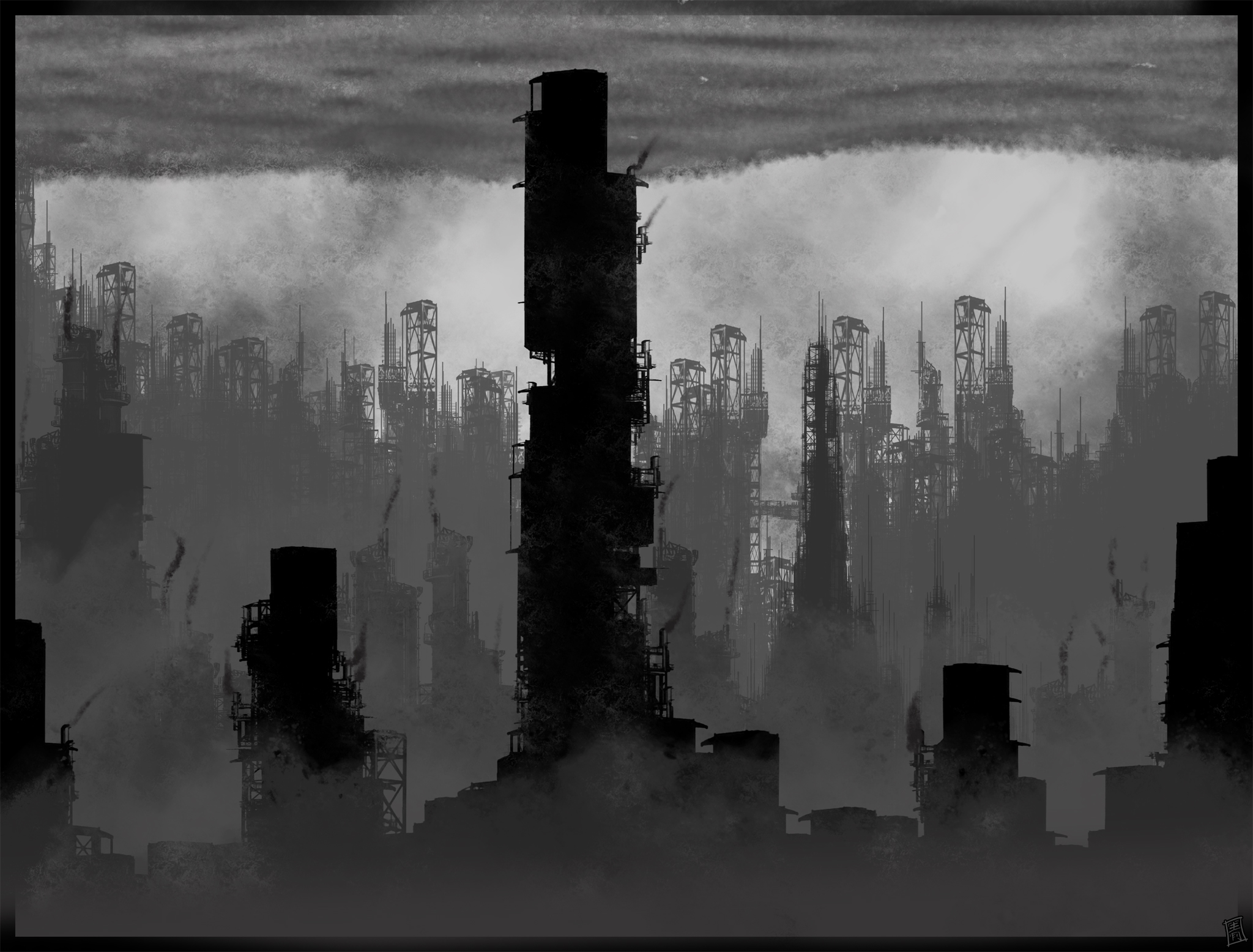 speedpaint industrial city by - photo #5
