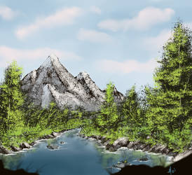 Mountain Forest River