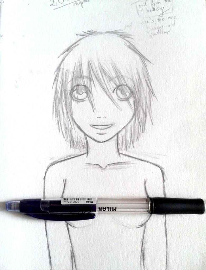 Girl sketch by Flycatnr1