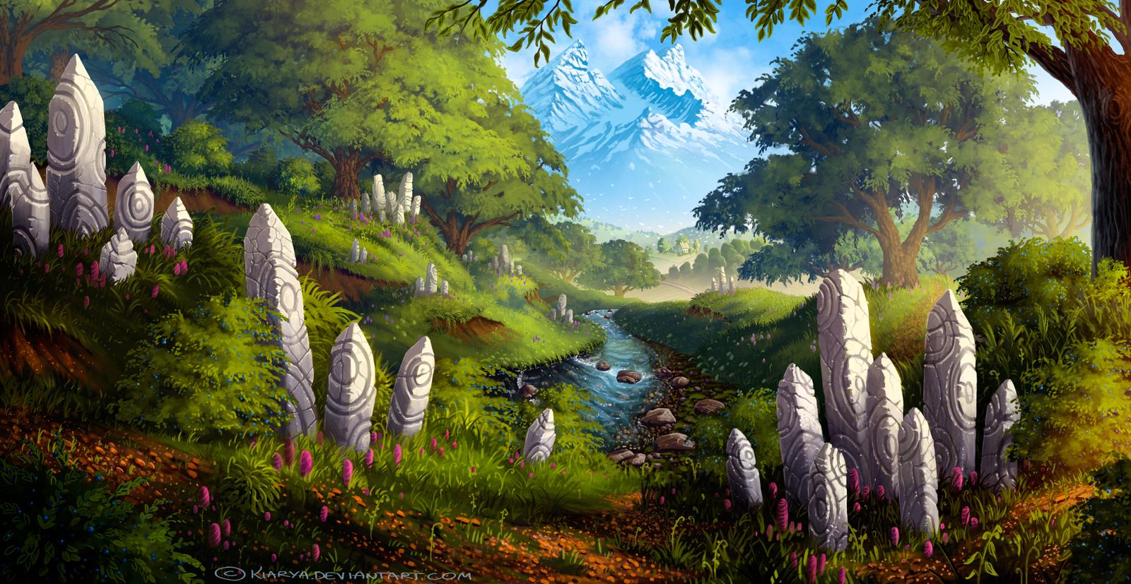 Forest Stream by Kiarya