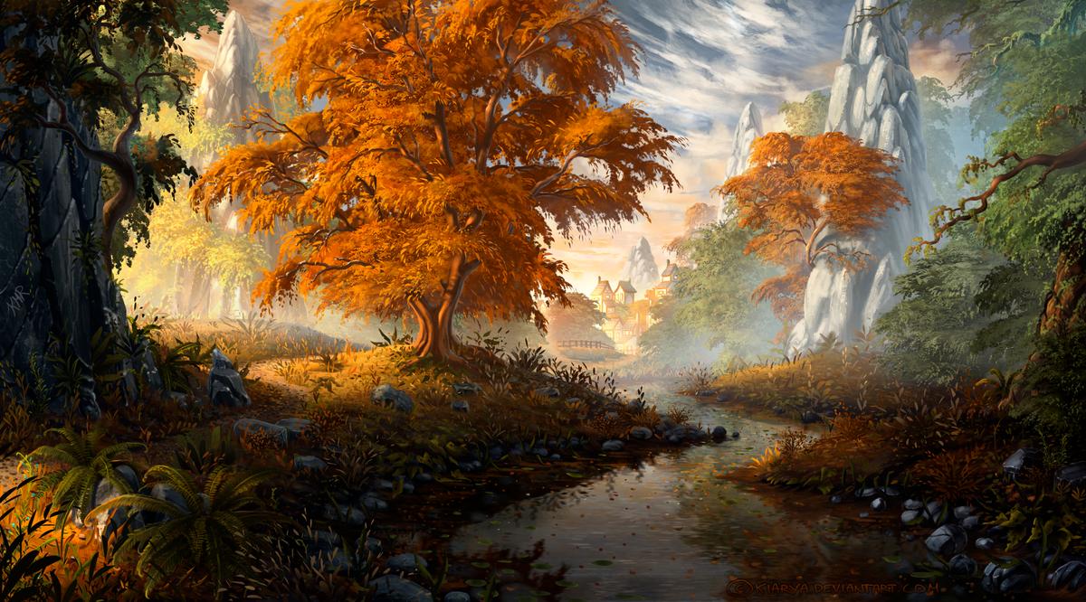 Autumn Stream by Kiarya on DeviantArt
