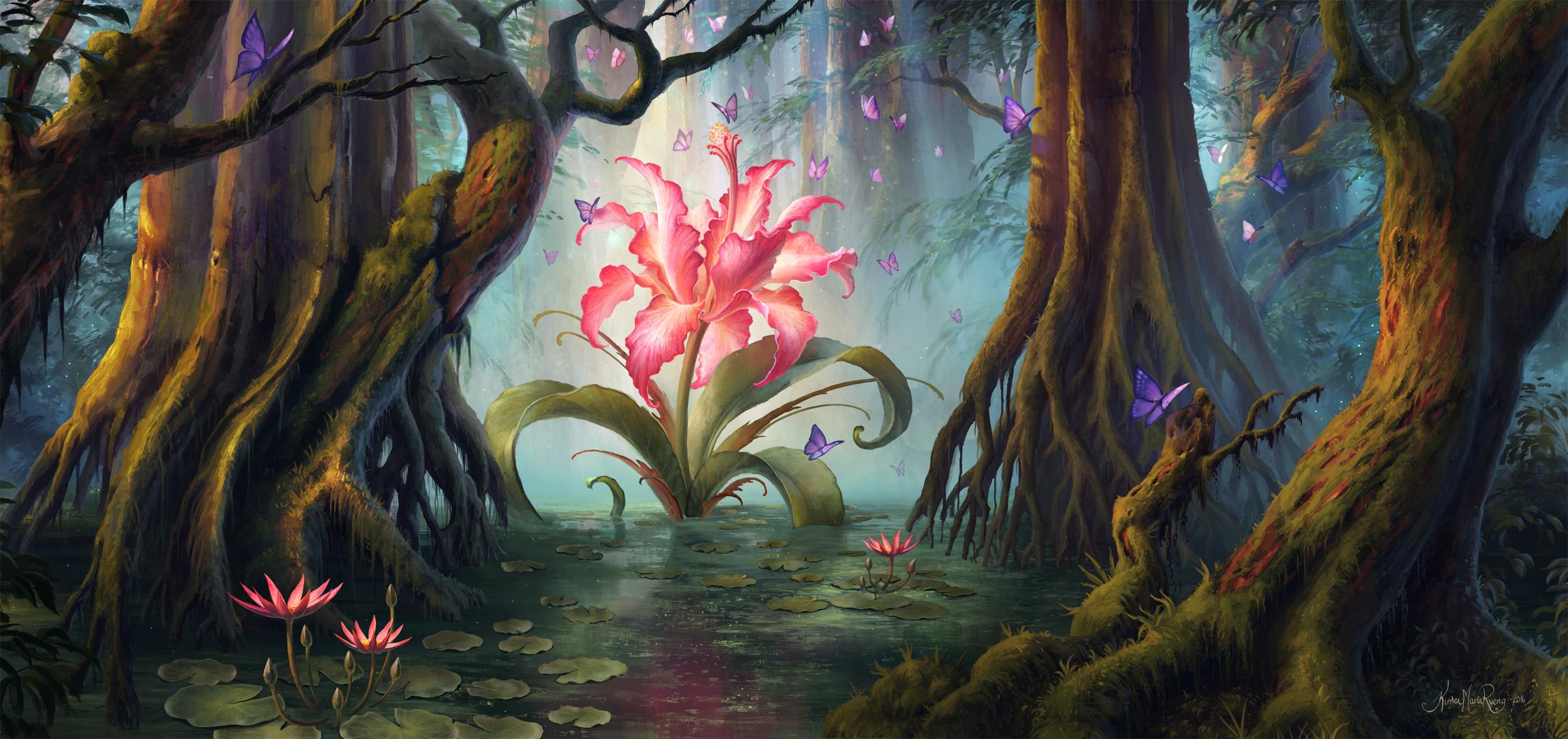 Swamp Lilies by Kiarya on DeviantArt