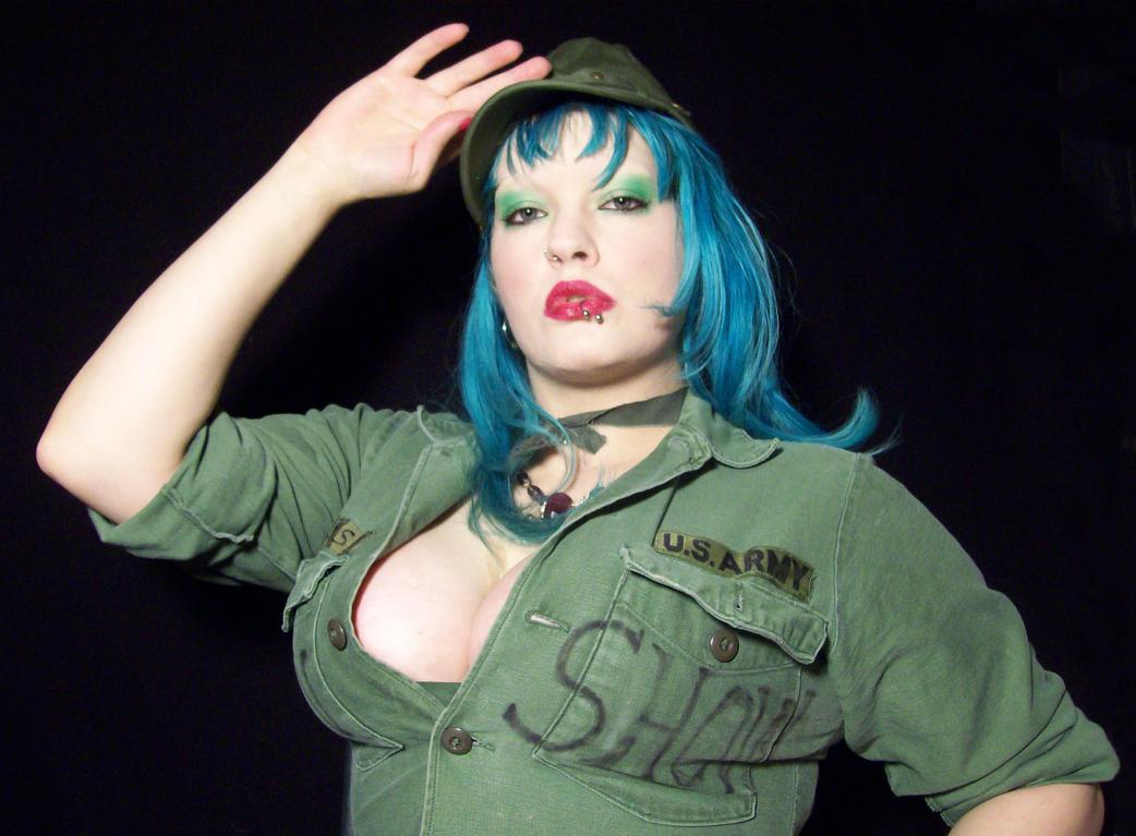 UglyShyla Army Girl Stock by uglyshyla