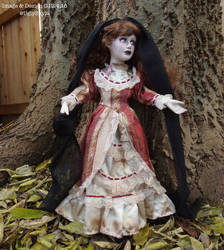 vampire doll sculpture