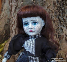 Weeping Gothic Girl Ghost Doll by Ugly Shyla